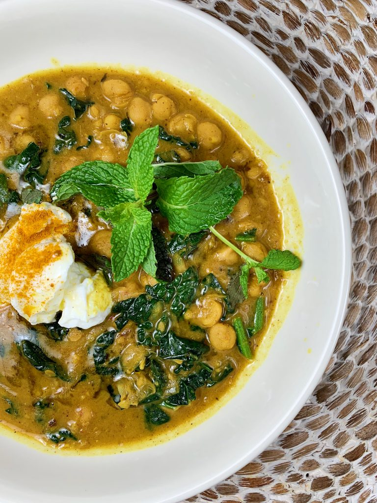 a little spice with chickpea stew