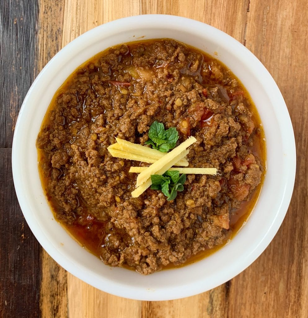kahari keema- pakistani ground beef curry
