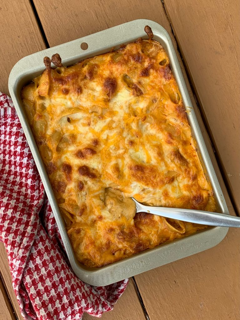creamy pasta bake: Grant's mac and cheese